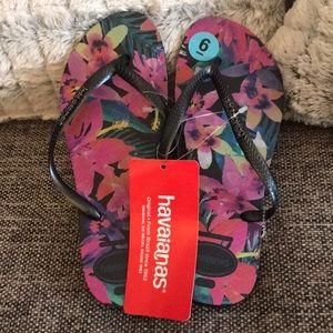 Floral Print Havaianas Flipflops/Sandals